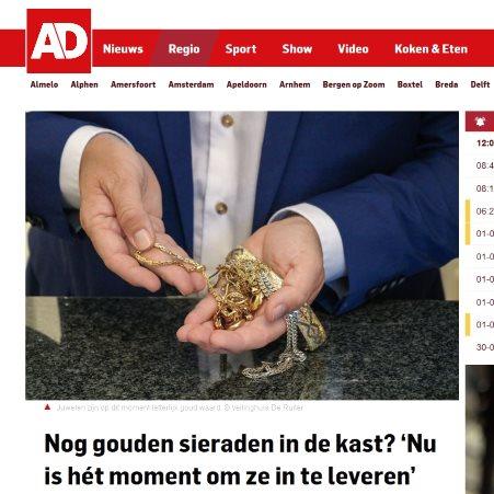 AD: Nog gouden sieraden in de kast? 'Nu is hét moment om ze in te leveren'