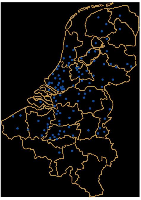 Onze vestigingen in België